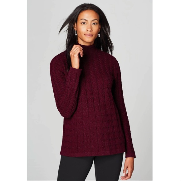 J. Jill Cabled Turtleneck Sweater